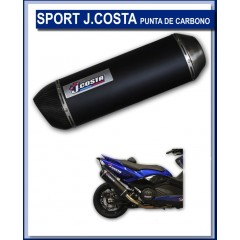 JC60710ESTSPORTC  JCosta Sport Carbon Exhaust for Yamaha Xmax 125cc